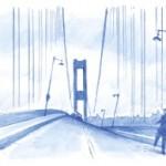 Avant de s'effondrer, le tablier du pont de Tacoma a subi, sous l'influence de vents modérés, des oscillations verticales ainsi que des mouvements périodiques de torsion le long de son axe, l'inclinaison allant jusqu'à 45 degrés.