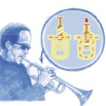 Lorsque le trompettiste appuie sur un piston, il allonge la longueur du tuyau de la trompette. (Dessin : Bruno Vacaro)